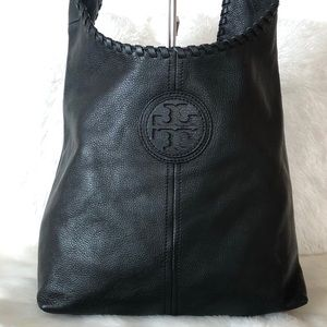 ✨Tory Burch Black Leather Hobo